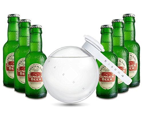 Moscow Mule Set - Kabumm Vodka 0,7l 700ml (40% Vol) + 6x Fentimans Ginger Beer 200ml - Inkl. Pfand MEHRWEG