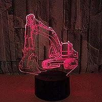 giyiohokUSBヨガモデリングテーブルランプ3DLedダンサー常夜灯7色アクリルベッドサイドスリープ照明室内装飾-N19-N5