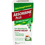 Absorbine Jr Plus Pain Relieving Liquid - New Extra Strength Formula - 4 Fl Oz (Pack of 3) by Absorbine