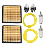 Milttor 2 Packs 900777005 Air Filter Fuel Line Fit Ryobi RY08420 RY08420A Backpack Blower