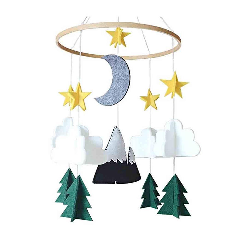 Upgraded PIKAqiu33 2019 Premium Baby Crib Mobile - Starry Woodland Night Nursery Decoration   Crib Mobile for Boys and Girls Decoration Felt