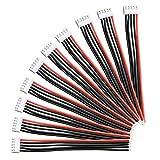 YIXISI 10 Piezas 4S Cargador de Balance de Batería Cable, JST XH Conector Adaptador con Cable de Silicona 15 cm 22awg