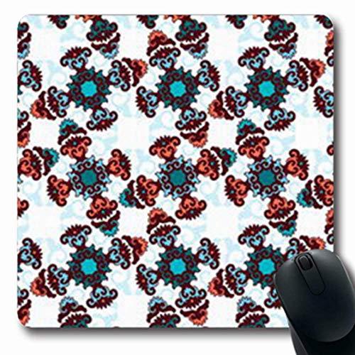 Gsgdae - Alfombrilla de ratón para Videojuegos con diseño Abstracto de retales de Azulejos arábigos, otomano, geométrico, Vintage, Estilo Bohemio, Forma Rectangular de cerámica de 7.9 x 9.5 Pulgadas