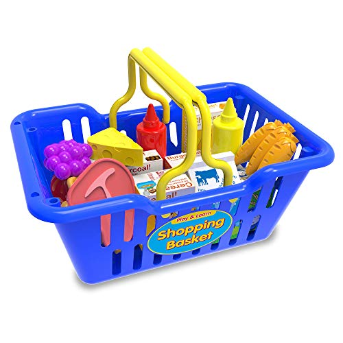 The Learning Journey Play and Learn - Shopping Basket - Toddler Toys & Gifts for Boys & Girls Ages 3 and Up - Award Winning Toy