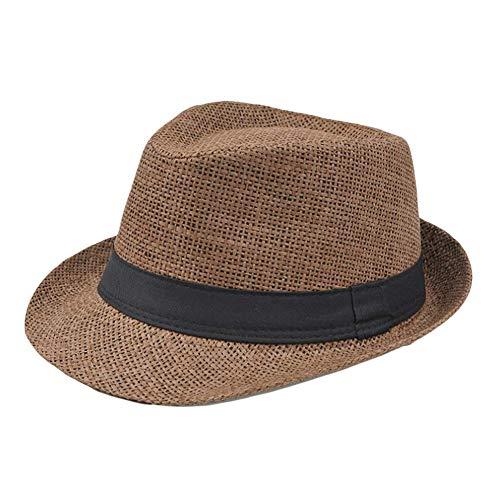 Hosaire Sombrero Marrón Sombrero de Sol Paja De Paja de Playa Topper