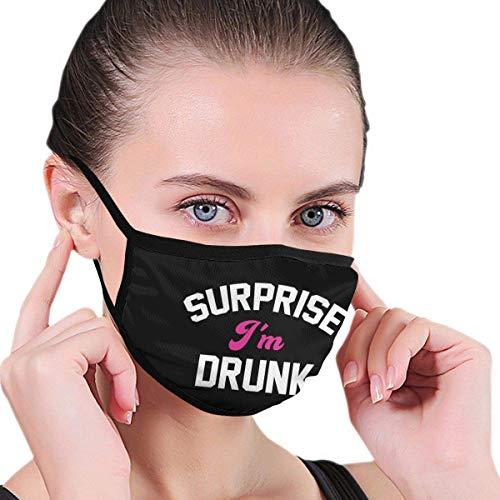 Überraschung Ich Bin betrunkene Männer Frauen Druck druckbare atmungsaktive waschbare Wiederverwendbare Gehörschutz für Party
