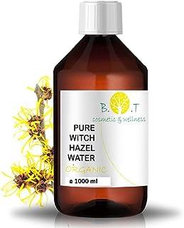 BIO Blütenwasser Organic Hydrolat Hamamelis Gesichtswasser Akne Gegen Poren minimizer Destillierte wasser Vegan kosmetik Witch Hazel Tonikum Hamameliswasser Destillat 1000 ml