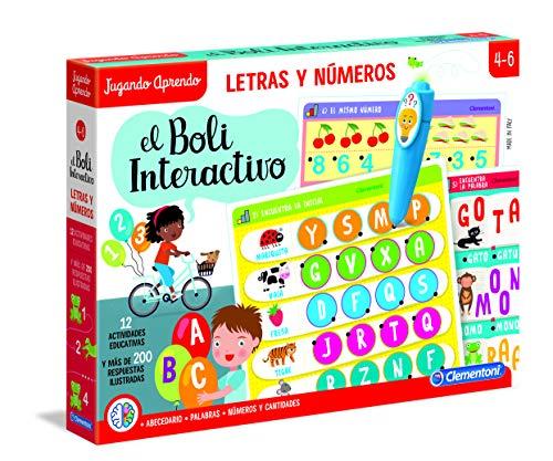 Clementoni-55319 - Boli Interactivo Letras y Números - juego educativo con boli...