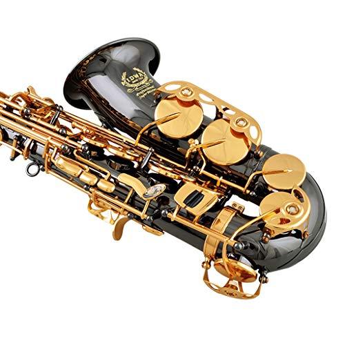 Saxofones Instrumentos de Viento Madera Alto E-Flat Suitble para Principiantes o Rendimiento Ventas directas de fábrica de níquel Negro Garantía de por Vida (Color : Midrange)