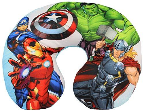 Marvel Avengers Nackenkissen Reisekissen für Kinder, Superhelden Thor, Hulk, Captain America und Iron Man, 28 x 33 cm