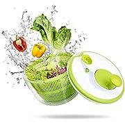 AnGeer Salatschleuder,Obst-und Gemüsetrockner, abtrocknender und abfließender Salat-Schnellschleuder