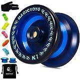 YOSTAR Bambini Yo Yo Professionale MAGICYOYO K1-Plus Yoyo Reattivo per Principianti Yoyo, con Yoyo Sack + 5 Corde e Regali Yo-Yo Glove (Blu)