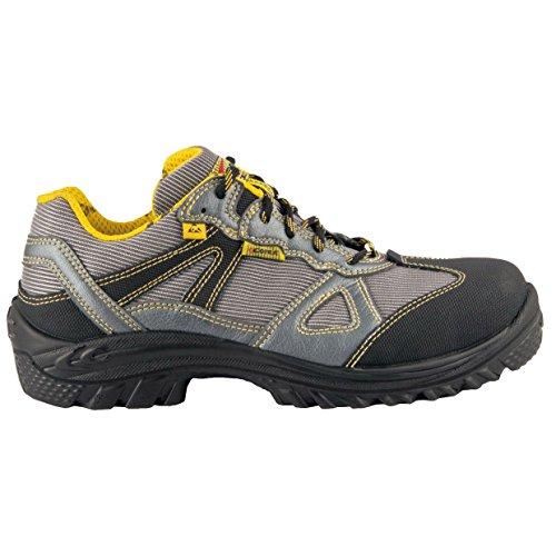 Cofra 63470–000.w39Talla 39s1P SRC ESD Cartagena Zapatos de Seguridad, Color Gris y Amarillo