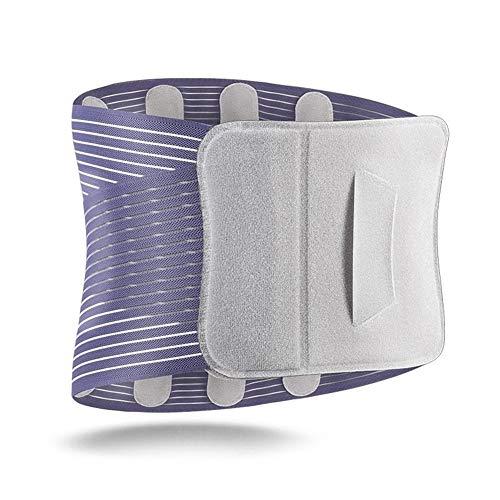 ZCY Lordosenstütze Brace Frauen-Männer Elastisches Korsett Lendenwirbel Stützgurt Taille Orthopädische Körperhaltung Korrektor LWS-Gurt-Taillen-Unterstützung XXL LB (Color : Light Grey, Size : L)