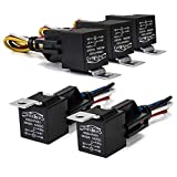 Relay 12V DC 30A /40 AMP Relay SPDT with Interlocking Relay Socket and Wiring Harness Waterproof Relay 5 Pack by 3mirrors