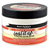 Aunt Jackie's Flaxseed Recipes Seal It Up, Hydrating Sealing Butter, Helps Prevent and Repair Damaged Hair, Jar, 7.5 Oz