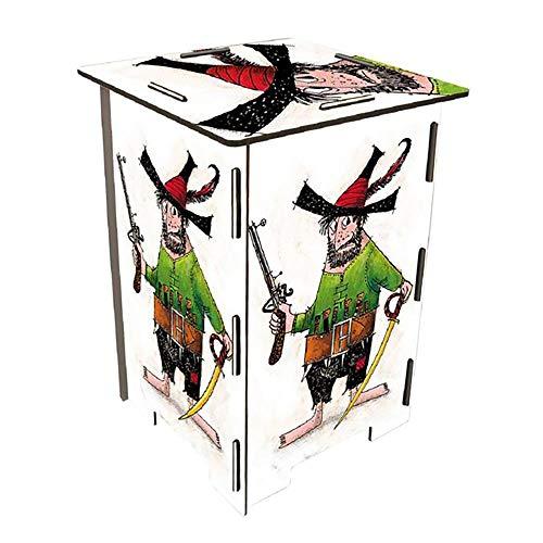 Prijs op steel fotokruk - roofdieren | fotokruk | bijzettafel wit | meubelstuk woonkamer | kruk voor kinderen | houten kruk