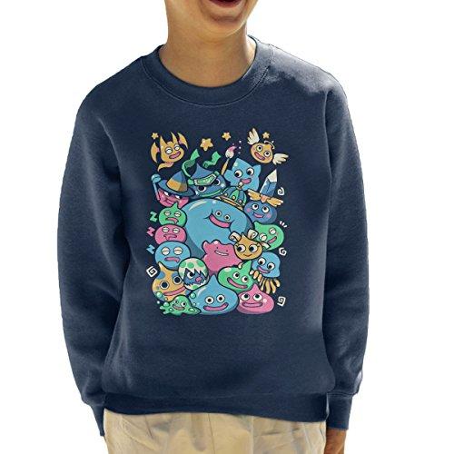Cloud City 7 Dragon Quest Slime Party Kid's Sweatshirt