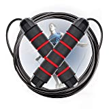 Cabepow Adjustable Jump Rope with Carrying Pouch - Cardio Jumping Rope for Men, Women, and Children...