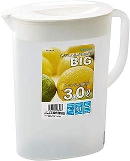 GYUE Jarra de Gran Capacidad, hervidor de Agua fría, refrigerador, Olla de plástico Blanca fría y Abierta, Multiusos Espesada con Jarra de Jugo de filtro-3L