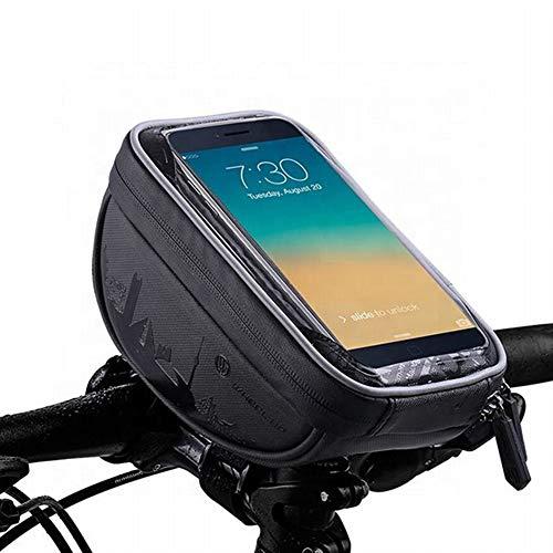 Bolsa Bicicleta Manillar Impermeable para Ciclista Ciclismo, Soporte Telefono Móvil,con Pantalla Táctil para Teléfono Inteligente por Debajo de 6.5 Pulgadas