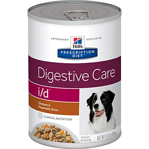 Hill's Prescription Diet i/d Digestive Care Chicken & Vegetable Stew Canned Dog Food, 12.5 Oz, 12-Pack Wet Food