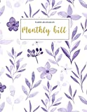 Monthly Bill Planner and Organizer: monthly billing planner | 3 Year Calendar 2020-2022 Paycheck Bill Planer with income list,Weekly expense tracker ... Workbook (Financial Planner Budget Book)