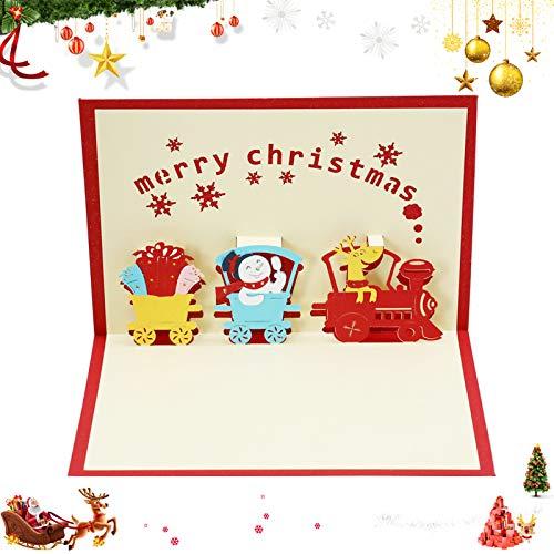 3D Pop Up Weihnachten Karten,3D weihnachtskarten, Klappkarten Grußkartenfür Frohe Weihnachten,Weihnachten Karten personalisiert,Klappkarten,Grußkarten,Handmade Weihnachtsgrußkarte-Frohe Weihnachten(A)