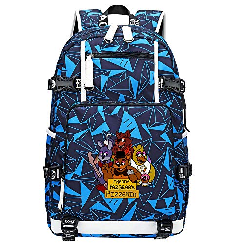 GOYING Five Nights at Freddy's Anime Laptop Backpack Bag Travel Laptop Daypacks Lightweight Bag with USB-B