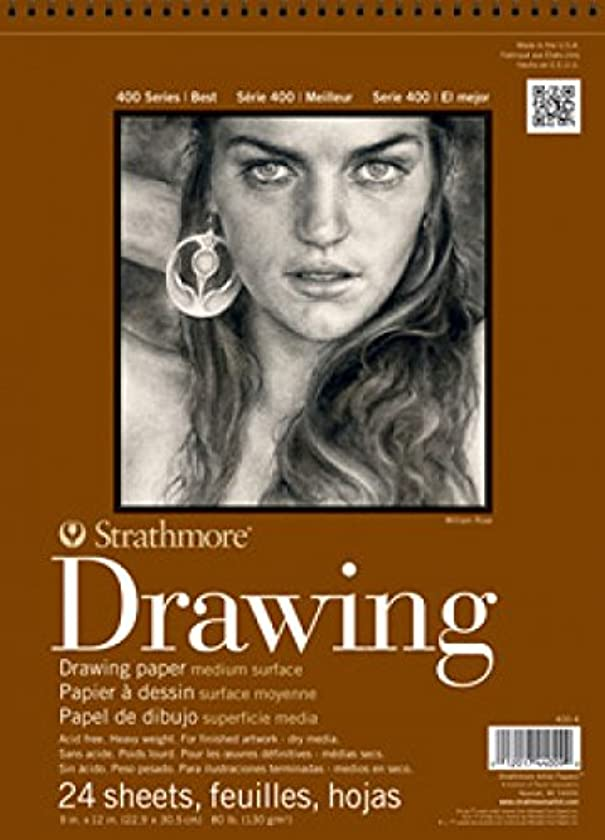 Strathmore (400-3) STR-400-3 24 Sheet No.80 Drawing Pad, 8 by 10
