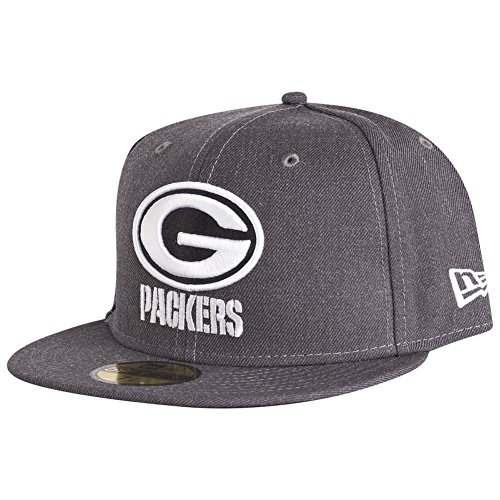 New Era Green Bay Packers 59fifty Basecap NFL Heather Graphite - 7-56cm