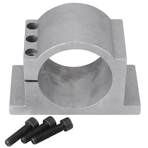 CNC Fräse Spindelaufnahme Spindelhalter, 80 mm Durchmesser CNC Spindelmotor Halterungsklemme aus Aluminium mit Schrauben (80 mm)