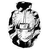 qinheny Sudaderas con Capucha para Hombre Anime Naruto Sasuke Sudadera Harajuku Sudaderas con Capucha para Niños Niñas Niños Dibujos Animados Ropa con Capucha-14_XXS