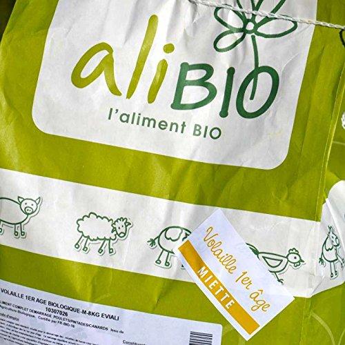 Agro Sens - Aliment Complet Biologique en miettes spécial Poussins. Sac de 8 kg