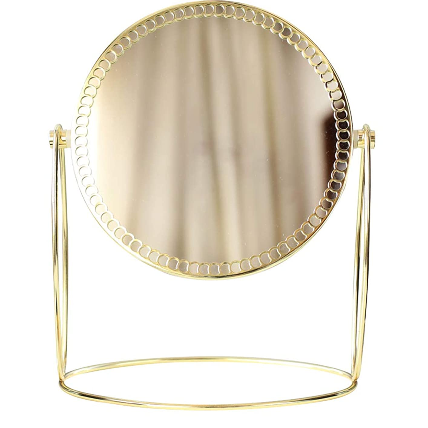 命令的絶対の異常化粧鏡 両面 360°自由回転 金属素材 メタルレトロプリンセスミラー 寮に適しています ベッドルーム
