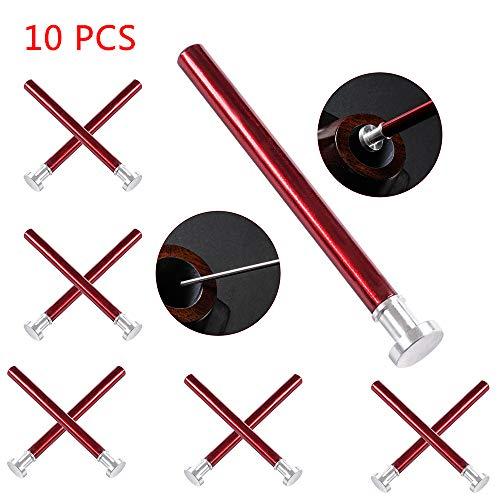 LUCKFY 2in1 Nettoyage tuyaux Outil Multifonctionnel Fumeurs Pipe Cleaner en Alliage d'aluminium Accessoires de Tabac à Pipe Cleaner Buse démontages (10 pièces)