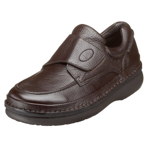 Propet Mens M5015 Scandia Strap Slip-On,Dark Brown Grain,10.5 M (US Mens 10.5 D)