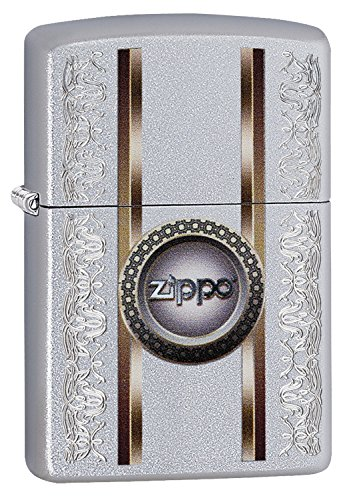 Zippo Zippo Benzinfeuerzeug, Messing, Edelstahloptik, 1 x 6 x 6 cm Edelstahloptik
