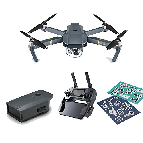 DJI Mavic Pro Refurbish Mini Portable Drones Quadcopter Bundle (Renewed) with New Intelligent Battery and Stickers Offered by DJI Official Store