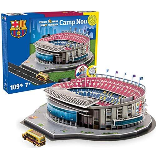 Stadium 3D Jigsaw, NOU Camp Stadium (España) Kits de Modelos, Modelos de Rompecabezas 3D DIY Football Stadium Juguete Educativo para niños y Adultos