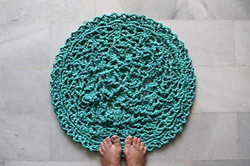 Türkisfarbenen Teppich häkeln, 23,5