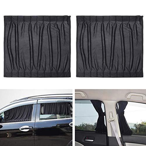 Clispeed 2 Pezzi Finestra Laterale Auto Protezione UV Tenda Auto Scorrevole Finestra Scudo (Nero)