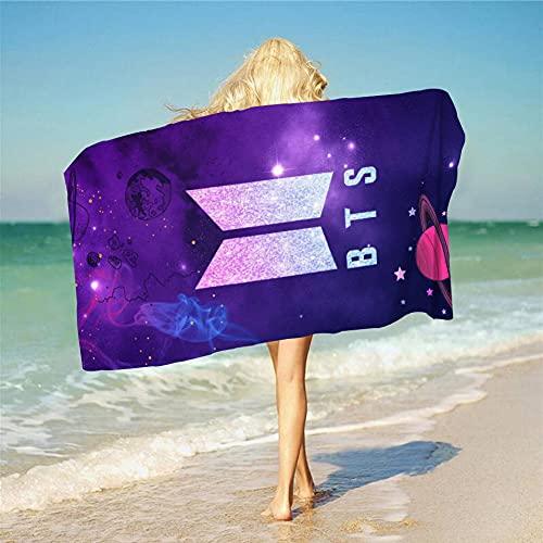 Proxiceen New Youth League BTS Serie 3D - Toalla de baño (impresión digital, rectangular, A5,140 x 180 cm), diseño de la serie de la serie BTS