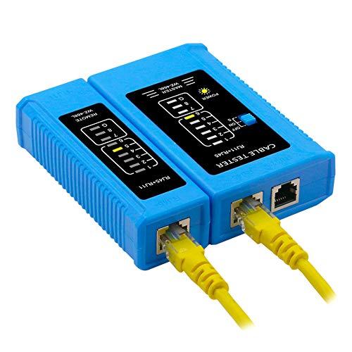 NeeyBing Comprobador profesional de cables LAN RJ45 RJ11 RJ12 CAT5 CAT6 UTP LAN Probador de cables de red de la herramienta de red, LAN etwork probador de cables