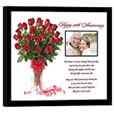 40th Wedding Anniversary for Couple Gift – Poem in 8x10 Inch Frame - Add Photo