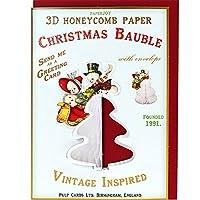 パルプカード クリスマスカード PJ054 デコ(スノーマン)