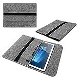 Nauci Laptop Tasche Sleeve Hülle für Odys Winpad 10 2in1 Notebook Netbook Ultrabook Hülle aus strapazierfähigem Filz in Grau mit praktischen Innentaschen