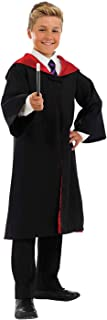 fun shack Kids Witch Or Wizard Costume Boys Girls Magical Robes & Wand Magic School Outfit