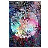 MWOOT DIY 5D Luna Diamante Pintura por Número Kit,Moon Bricolaje Diamond Painting Rhinestone...