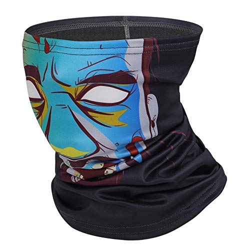 chebao Neck Multifunction Headwear,Windproof Neck Gaiter Scarf,Neck Tube Sunscreen Headbands, WEST BIKING 3D Animation Fleece Outdoor Sport Headband (Gradient Blue) for Men Women Outdoors Cycling